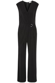 Wrap-effect stretch-jersey jumpsuit