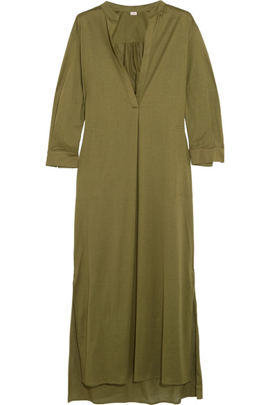 Eres - Zephyr Odette Cotton-jersey Kaftan - Army green