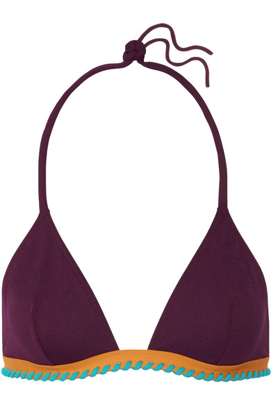 Eres - Cordoba Panama Whipstitched Triangle Bikini Top - Grape
