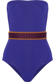 Eres Pepita belted bandeau swimsuit