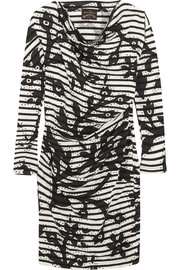 Vivienne Westwood Anglomania Draped printed cotton-jersey dress