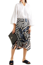 Vivienne Westwood Anglomania Eight draped printed cotton-voile midi skirt