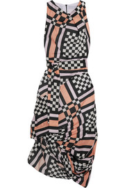 Vivienne Westwood Anglomania Eight draped printed cotton-voile midi dress