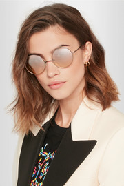 Mott round-eye bronze-tone mirrored sunglasses