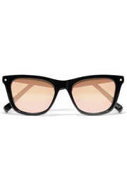 Campbell wayfarer-style acetate mirrored sunglasses