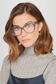 Clarence cat-eye acetate optical glasses