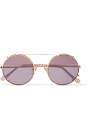 Valentine rose gold-tone sunglasses