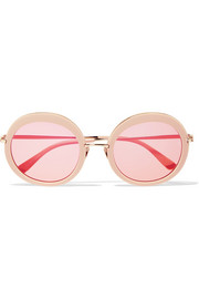 Sunday Somewhere Arabella round-frame acetate and gold-tone sunglasses