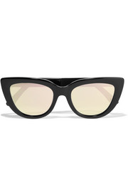 Laura cat-eye acetate mirrored sunglasses