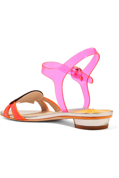 ec4253ec7f42 Sophia Webster. Wifey For Lifey vinyl and patent-leather sandals. £350.  Zoom In