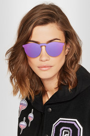 Illesteva Leonard Mask round-frame gold-tone mirrored sunglasses