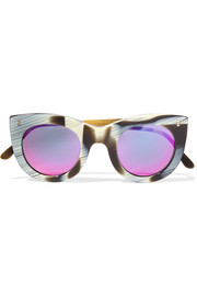 Illesteva Boca II cat-eye acetate mirrored sunglasses