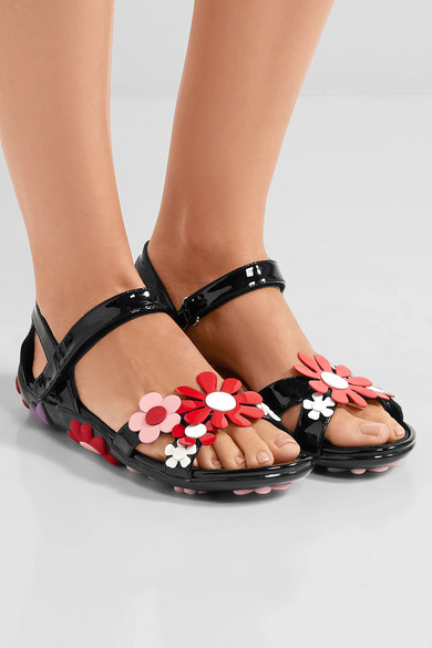 for sale free shipping shop for Prada Floral Leather Sandals discount order Je6tHwjOPh
