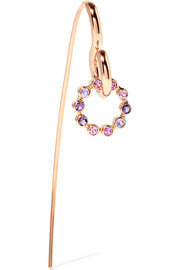 Swing 18-karat rose gold, sapphire and amethyst earring