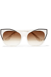 Thierry Lasry Polygamy cat-eye acetate and gunmetal-tone sunglasses