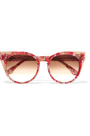 Thierry Lasry Monogamy cat-eye acetate and rose gold-tone sunglasses