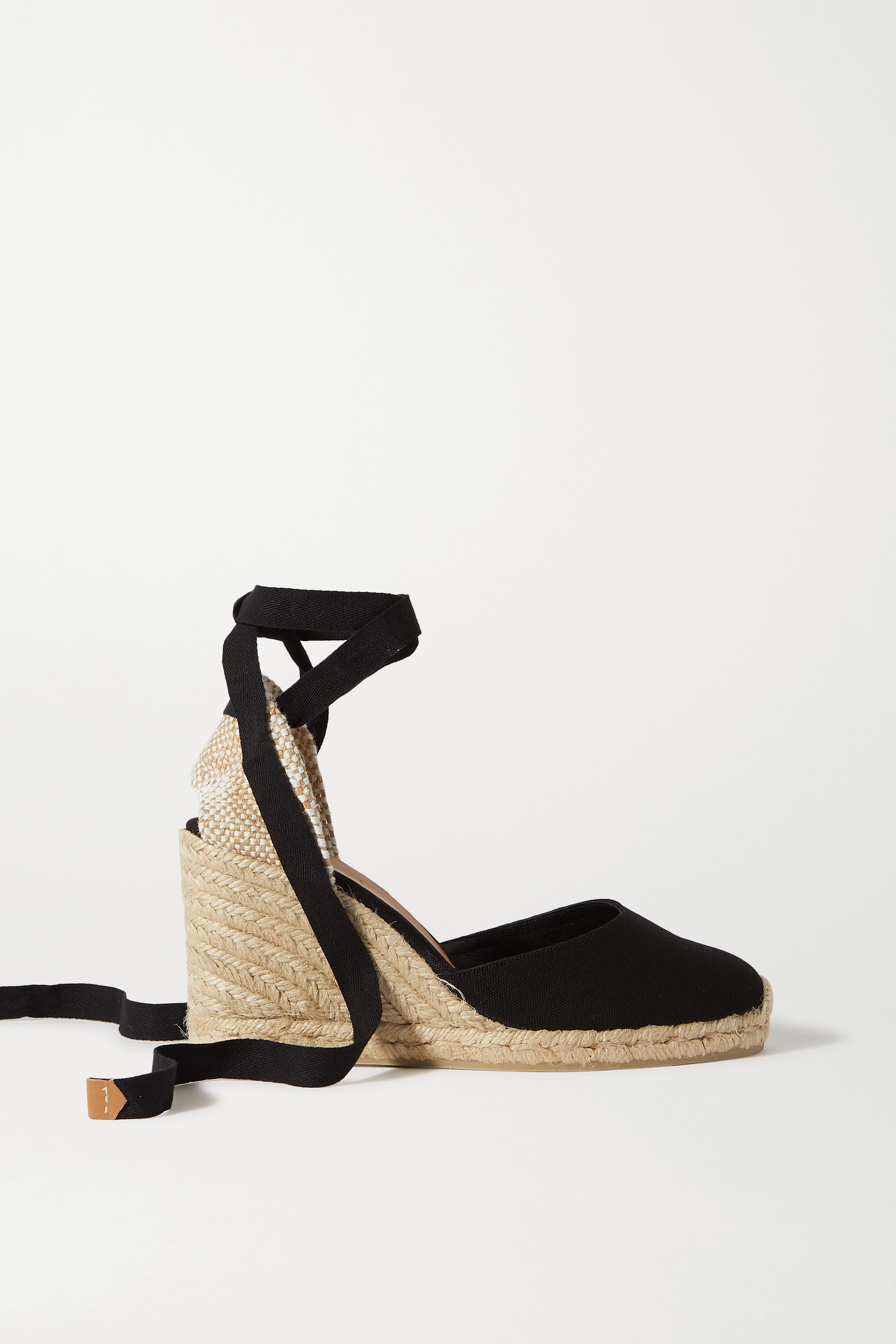Castañer Carina 80 canvas wedge espadrilles