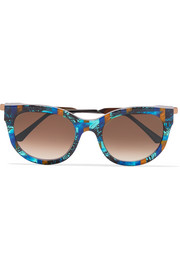 Thierry Lasry Lively cat-eye acetate and rose gold-tone sunglasses
