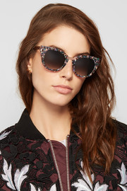 Thierry Lasry Snobby cat-eye acetate and rose gold-tone sunglasses