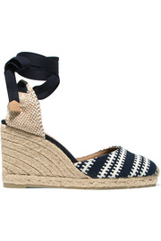 Carina woven canvas wedge espadrilles