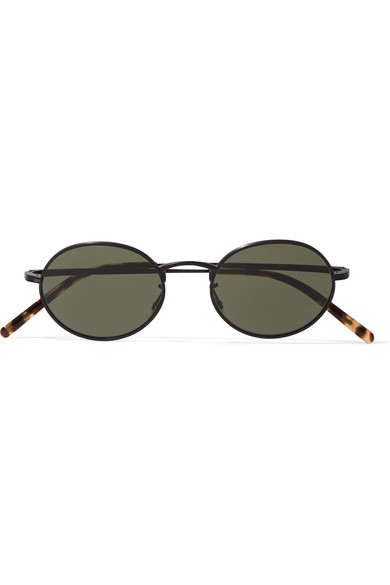adb6dd6252a Oliver Peoples. + The Row Empire Suite round-frame matte-acetate sunglasses