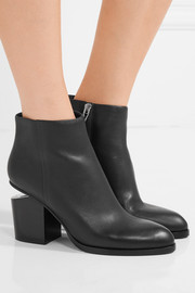 Gabi cutout leather ankle boots