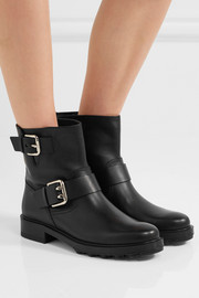 Tod's Buckled leather biker boots
