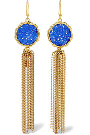 Rosantica Acquerello gold-tone agate earrings