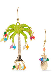 Rosantica Honululu gold-tone quartz earrings