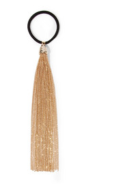Iliade fringed gold-tone hair tie