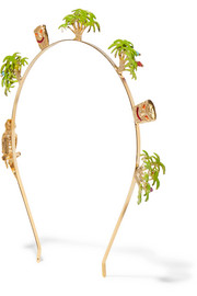 Palma gold-tone enameled headband