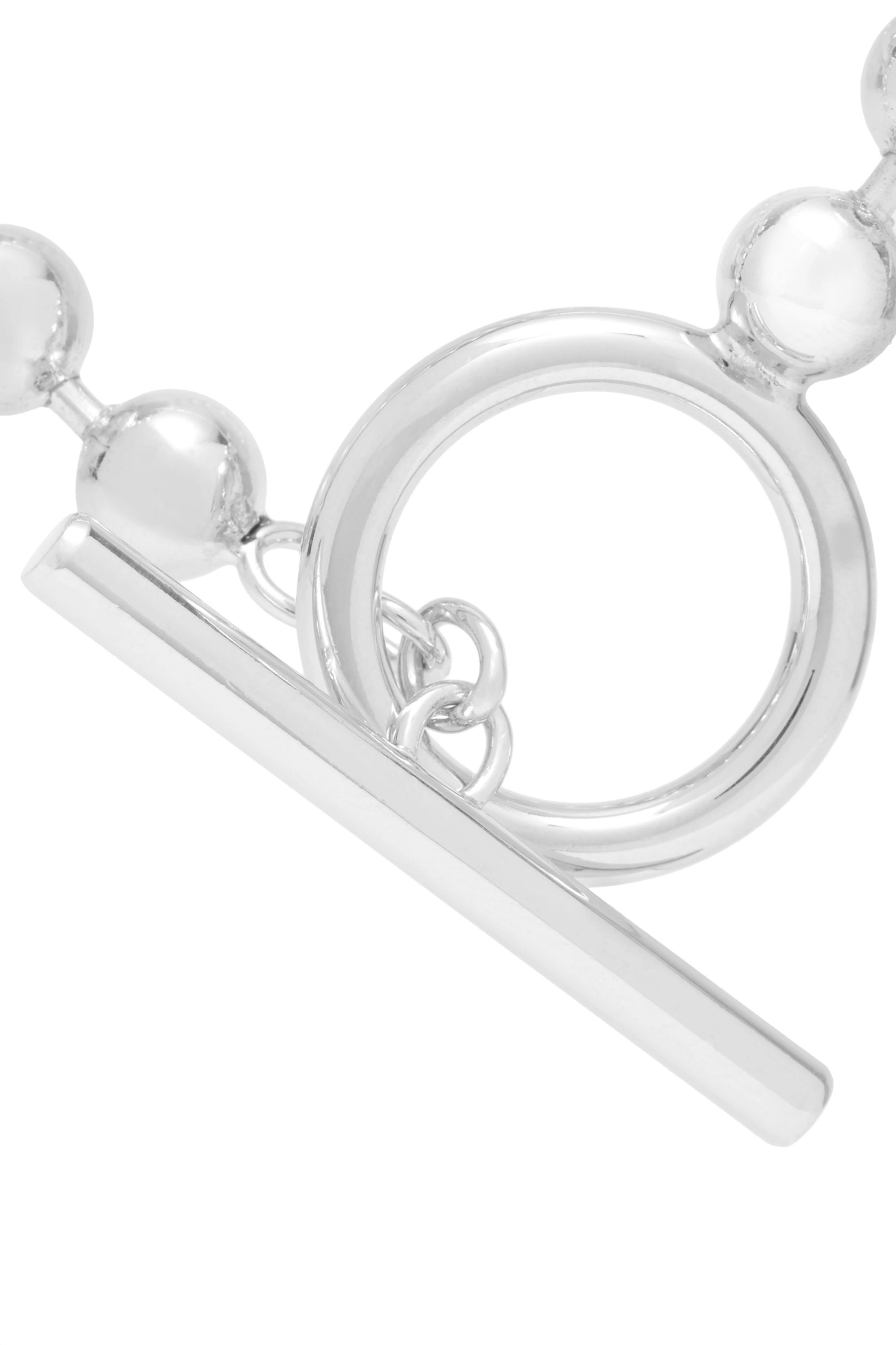 Jennifer Fisher Orb Chain silver-plated anklet