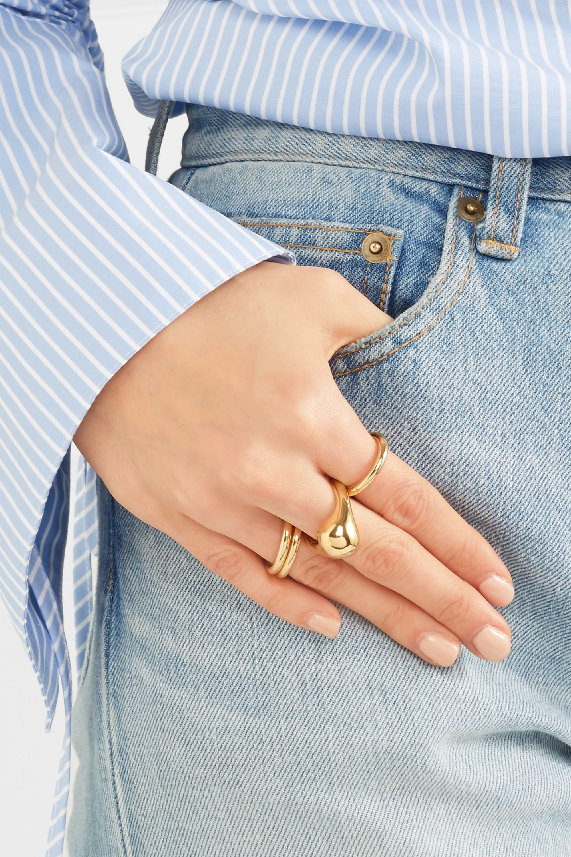Jennifer Fisher Orb gold-plated ring