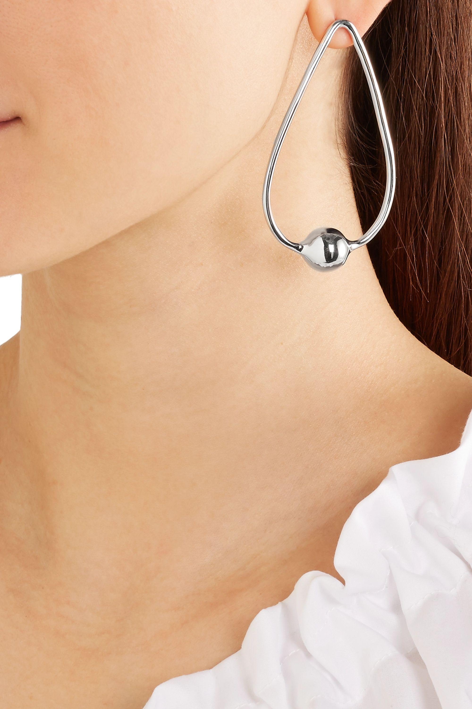 Jennifer Fisher Orb Drop silver-plated earrings