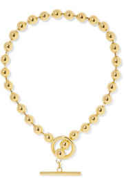 Orb gold-plated necklace