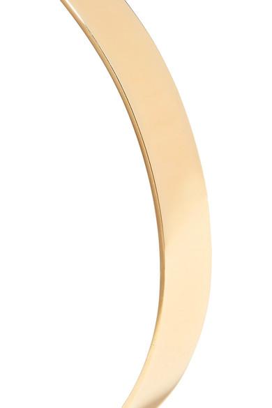Jennifer Fisher Flat Plate Gold Plated Choker Net A