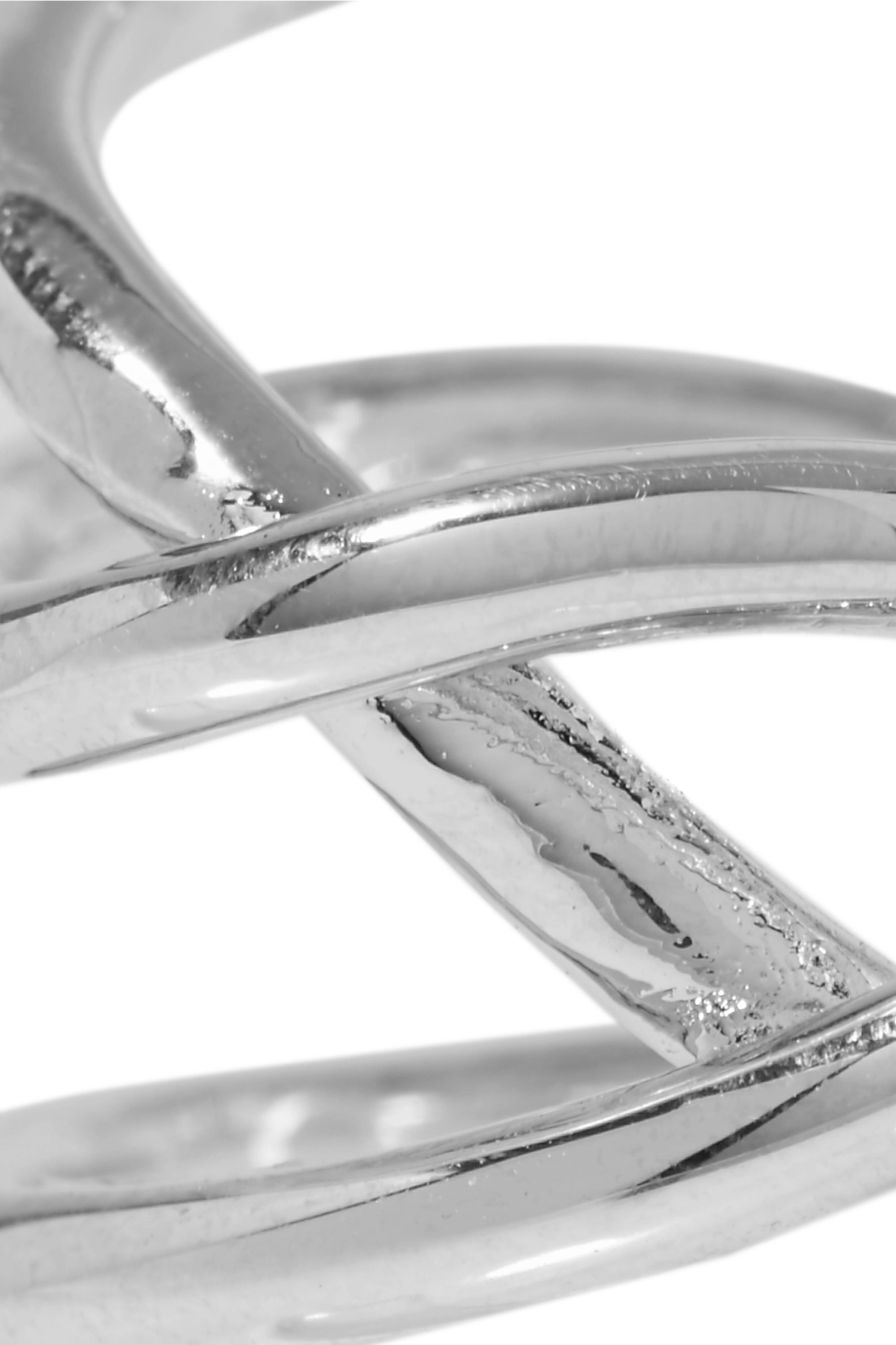 Jennifer Fisher Small Abstract Line silver-plated ring