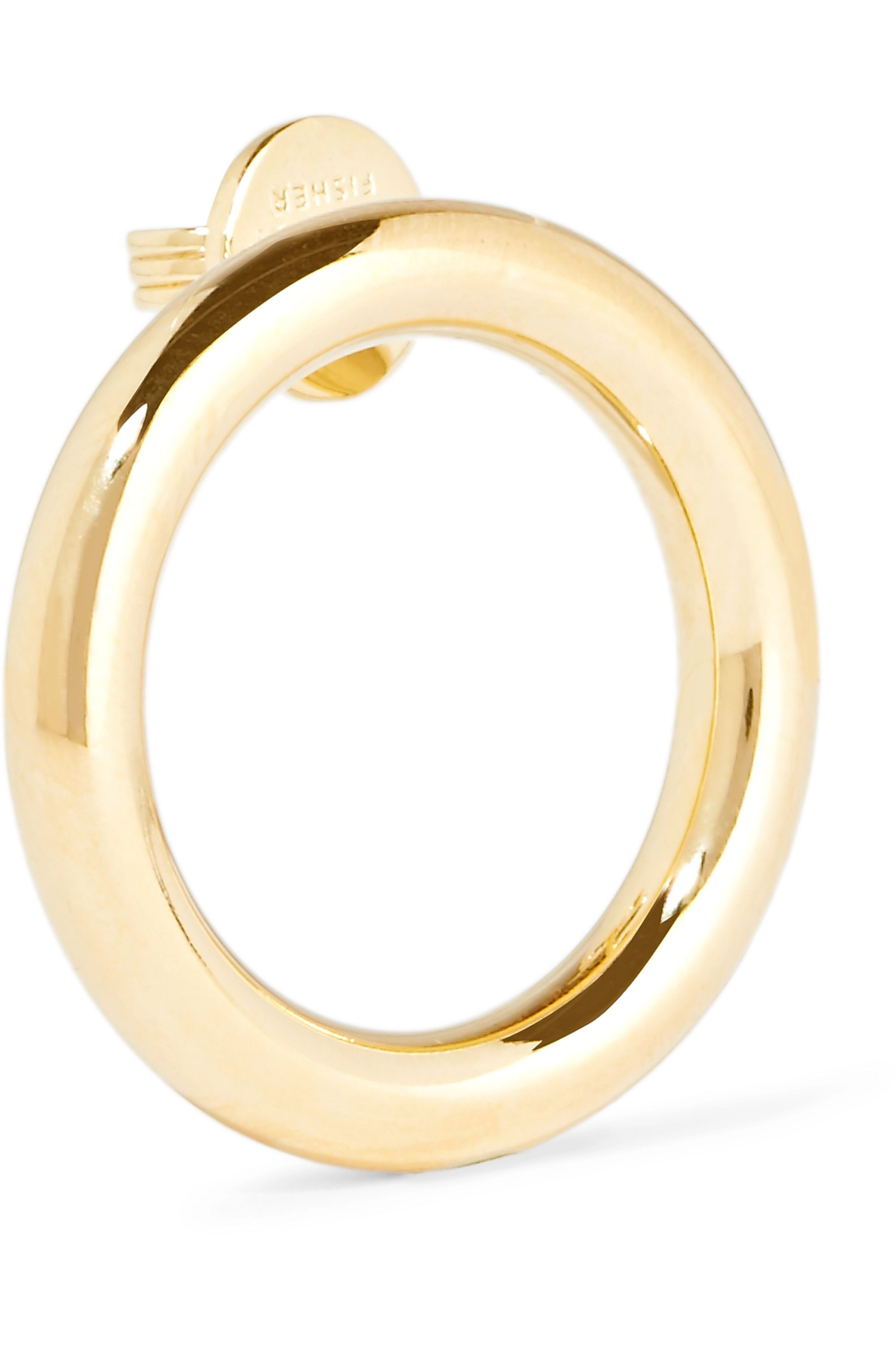 Jennifer Fisher Smooth Stick and Circle gold and silver-plated earrings