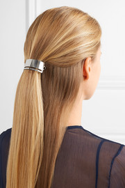 Slit silver-tone hairclip