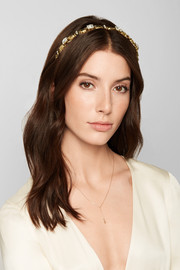Crawl gold-plated Swarovski crystal headband