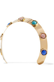 Oculous gold-plated multi-stone headband