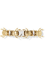 LELET NY Crawl gold-tone Swarovski crystal hairclip