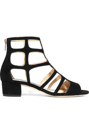 Jimmy Choo Ren 35 cutout suede sandals