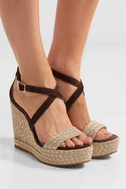 Jimmy Choo Portia suede wedge sandals