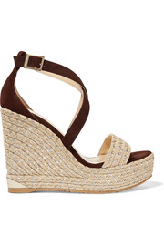 Portia suede wedge sandals