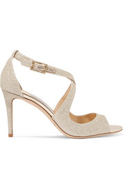 Jimmy Choo Emily glittered leather sandals