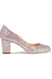 Jimmy Choo Billie glittered leather pumps