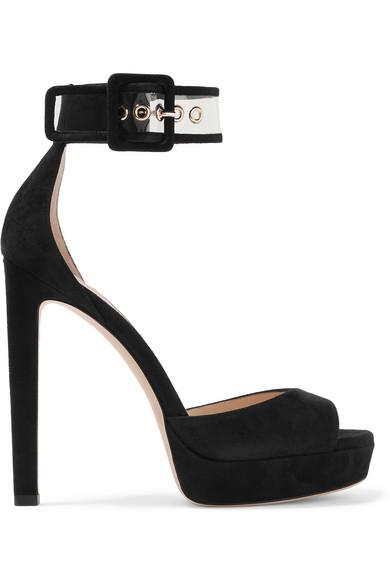 c2f764e4ef01 Jimmy Choo. Mayner PVC-trimmed suede platform sandals