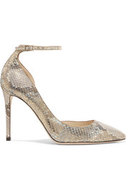 Jimmy Choo Lucy metallic python pumps