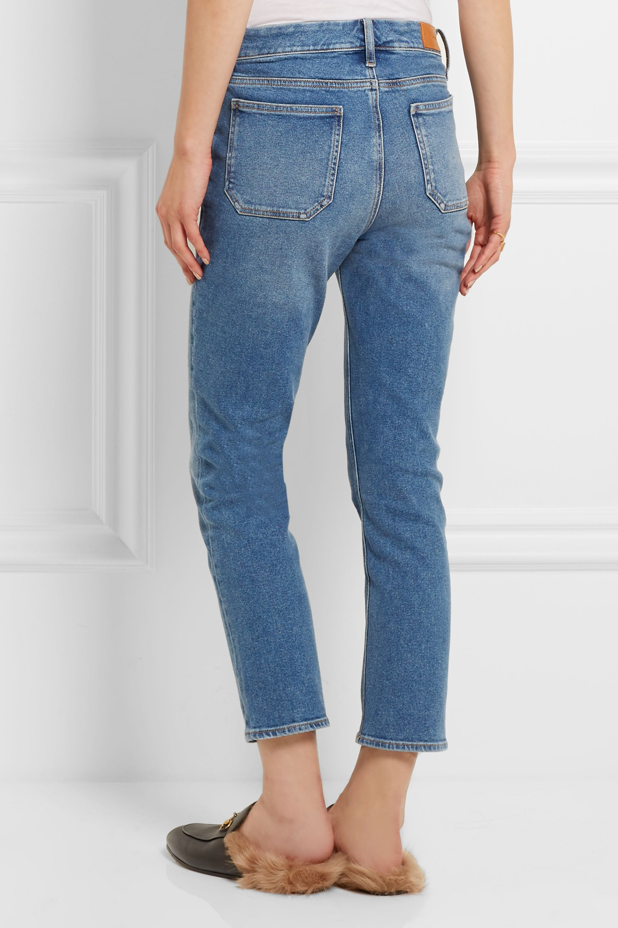 M.i.h Jeans Niki cropped high-rise skinny jeans